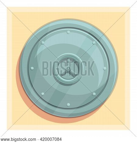 Deposit Room Closed Icon. Cartoon Of Deposit Room Closed Vector Icon For Web Design Isolated On Whit