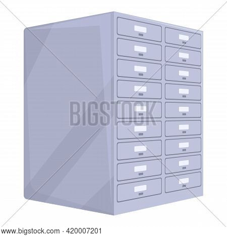 Deposit Room Indoor Icon. Cartoon Of Deposit Room Indoor Vector Icon For Web Design Isolated On Whit