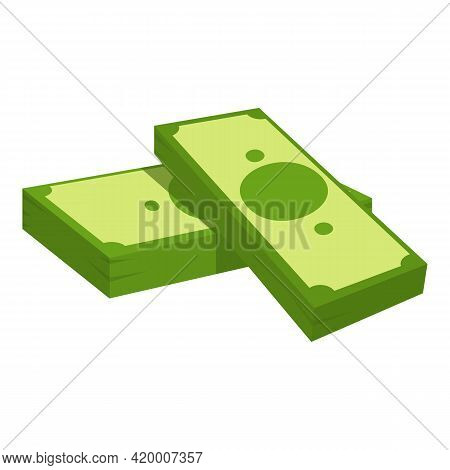 Bank Cash Icon. Cartoon Of Bank Cash Vector Icon For Web Design Isolated On White Background