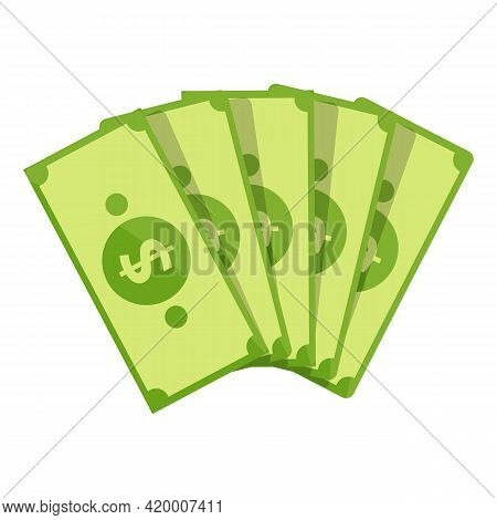 Bank Cash Papers Icon. Cartoon Of Bank Cash Papers Vector Icon For Web Design Isolated On White Back