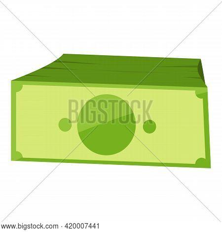 Bank Cash Dollar Wallet Icon. Cartoon Of Bank Cash Dollar Wallet Vector Icon For Web Design Isolated