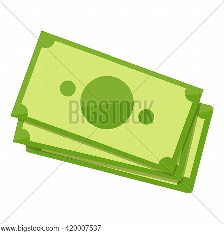Bank Cash Currency Icon. Cartoon Of Bank Cash Currency Vector Icon For Web Design Isolated On White