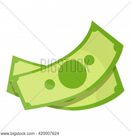 Money Cash Banknote Icon. Cartoon Of Money Cash Banknote Vector Icon For Web Design Isolated On Whit