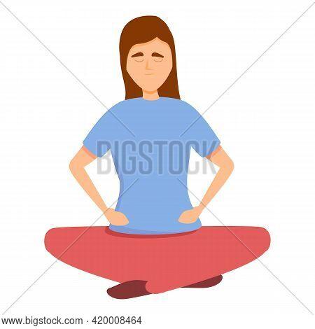 Meditation Brainstorming Icon. Cartoon Of Meditation Brainstorming Vector Icon For Web Design Isolat