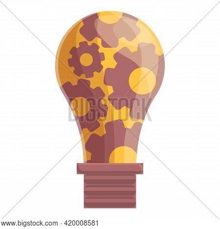 Smart Lightbulb Icon. Cartoon Of Smart Lightbulb Vector Icon For Web Design Isolated On White Backgr