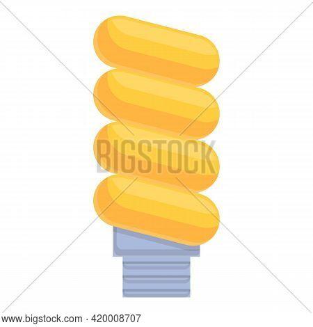 Smart Lightbulb Led Icon. Cartoon Of Smart Lightbulb Led Vector Icon For Web Design Isolated On Whit
