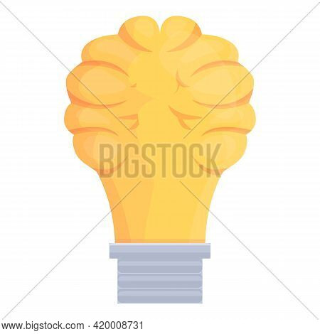 Smart Lightbulb Solution Icon. Cartoon Of Smart Lightbulb Solution Vector Icon For Web Design Isolat
