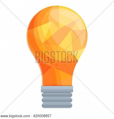 Smart Lightbulb Poly Icon. Cartoon Of Smart Lightbulb Poly Vector Icon For Web Design Isolated On Wh
