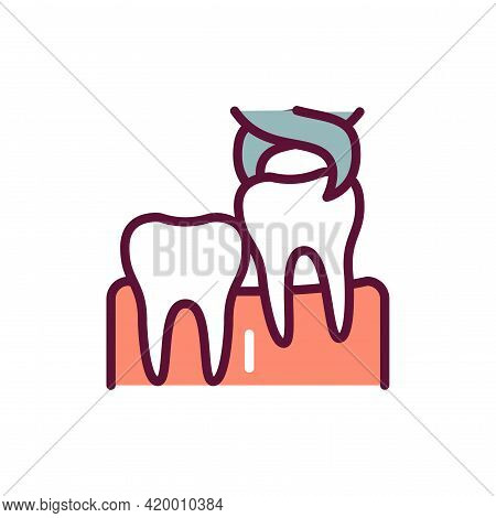 Wisdom Tooth Extraction Line Icon. Isolated Vector Element.