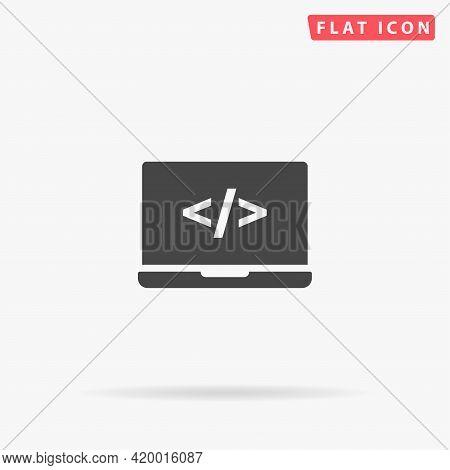 Programming Flat Vector Icon. Hand Drawn Style Design Illustrations.