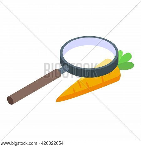 Research Carrot Icon. Isometric Of Research Carrot Vector Icon For Web Design Isolated On White Back