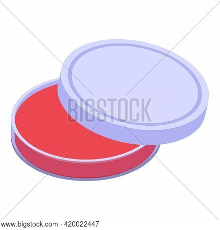 Microbe Petri Dish Icon. Isometric Of Microbe Petri Dish Vector Icon For Web Design Isolated On Whit