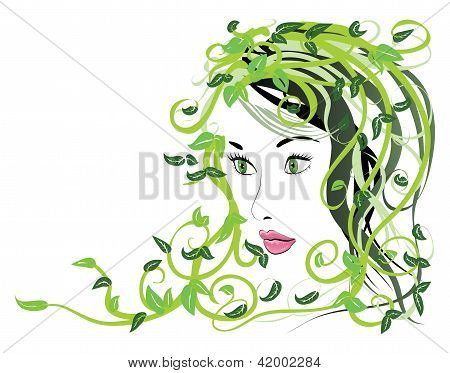 Girl With Floral Hair