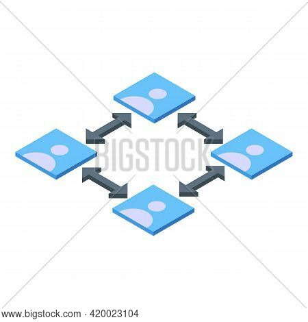 Social Keep Distance Icon. Isometric Of Social Keep Distance Vector Icon For Web Design Isolated On