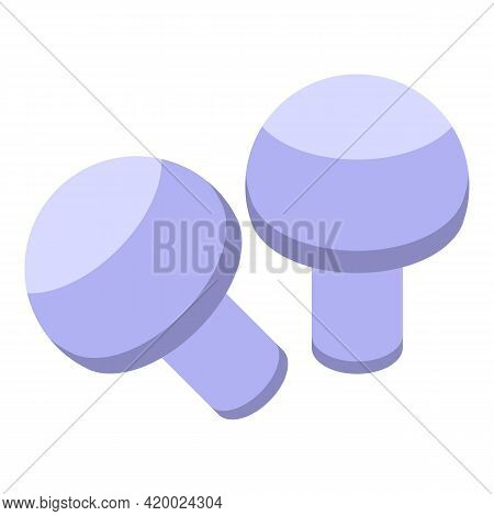 Wok Menu Mushroom Icon. Isometric Of Wok Menu Mushroom Vector Icon For Web Design Isolated On White