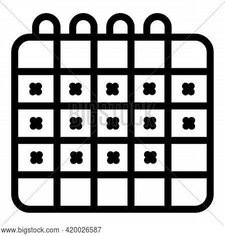Human Resources Calendar Icon. Outline Human Resources Calendar Vector Icon For Web Design Isolated