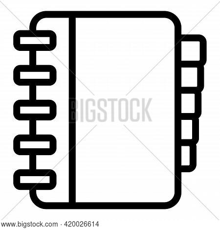 Human Resources Notebook Icon. Outline Human Resources Notebook Vector Icon For Web Design Isolated