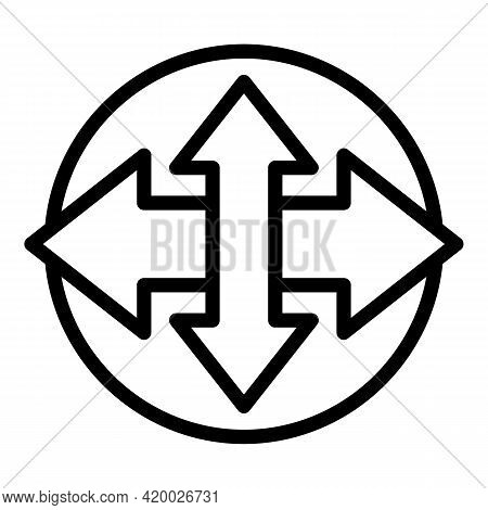 Human Resources Direction Icon. Outline Human Resources Direction Vector Icon For Web Design Isolate