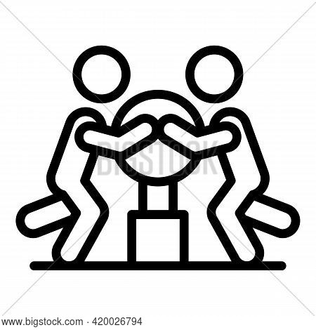 Human Resources Mentor Icon. Outline Human Resources Mentor Vector Icon For Web Design Isolated On W