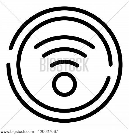 Accessible Wifi Point Icon. Outline Accessible Wifi Point Vector Icon For Web Design Isolated On Whi
