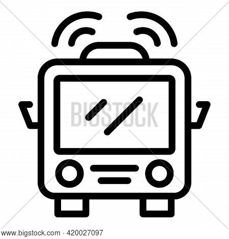 Accessible Train Icon. Outline Accessible Train Vector Icon For Web Design Isolated On White Backgro