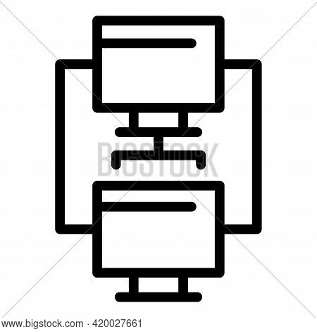 Api Network Icon. Outline Api Network Vector Icon For Web Design Isolated On White Background