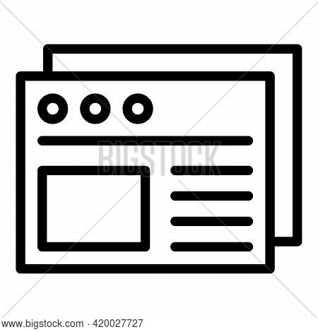 Api Web Site Icon. Outline Api Web Site Vector Icon For Web Design Isolated On White Background
