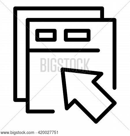 Api Cursor Icon. Outline Api Cursor Vector Icon For Web Design Isolated On White Background