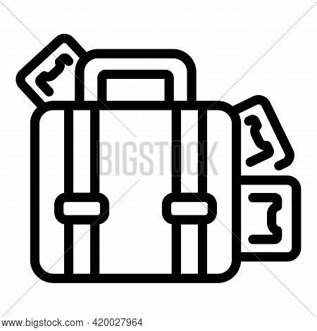 Laundry Money Suitcase Icon. Outline Laundry Money Suitcase Vector Icon For Web Design Isolated On W