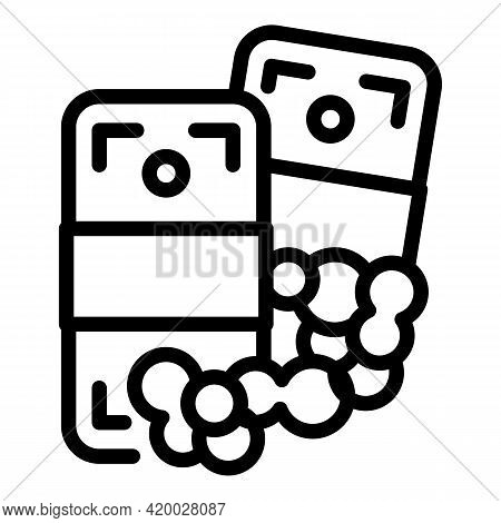 Laundry Money Pack Corruption Icon. Outline Laundry Money Pack Corruption Vector Icon For Web Design
