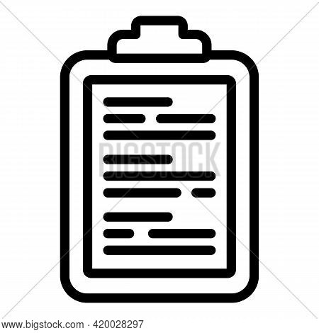 Laundry Money Clipboard Icon. Outline Laundry Money Clipboard Vector Icon For Web Design Isolated On