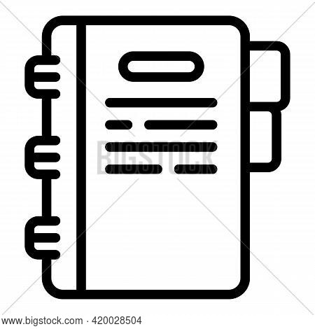 Financial Planning Folder Icon. Outline Financial Planning Folder Vector Icon For Web Design Isolate