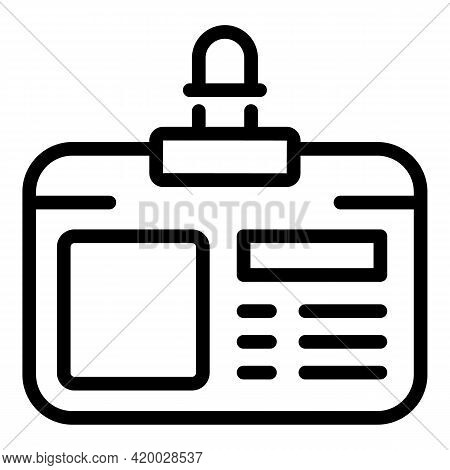 Financial Planning Id Card Icon. Outline Financial Planning Id Card Vector Icon For Web Design Isola