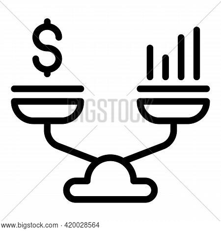 Financial Planning Compare Balance Icon. Outline Financial Planning Compare Balance Vector Icon For