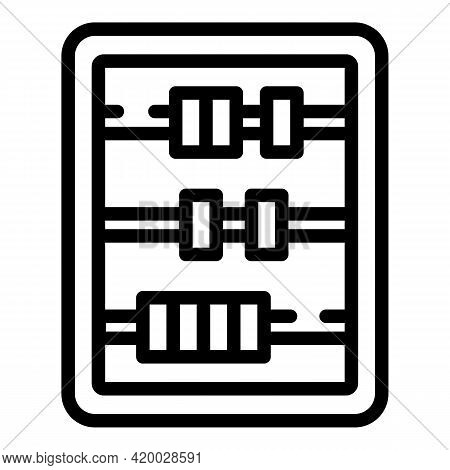 Financial Planning Abacus Icon. Outline Financial Planning Abacus Vector Icon For Web Design Isolate