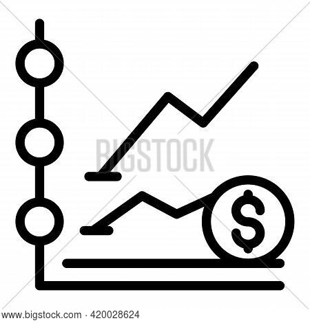 Financial Planning Money Icon. Outline Financial Planning Money Vector Icon For Web Design Isolated