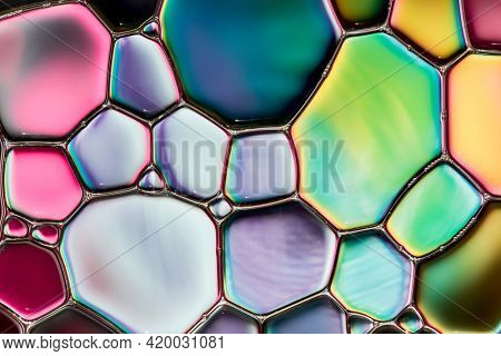 Water bubbles abstract colorful  background, water drops macro as natural  backgound.