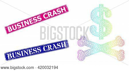 Spectrum Vibrant Mesh Dead Dollar, And Business Crash Textured Framed Rectangle Watermarks. Pink And