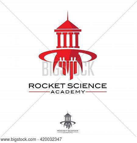 Rocket Science Academy Symbol Concept Vector Illustration