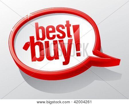Best buy shiny speech bubble.