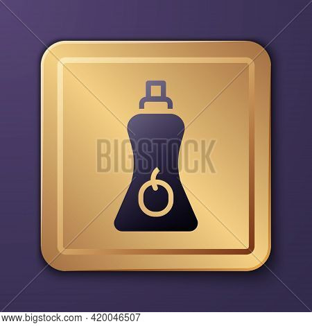 Purple Sauce Bottle Icon Isolated On Purple Background. Ketchup, Mustard And Mayonnaise Bottles With