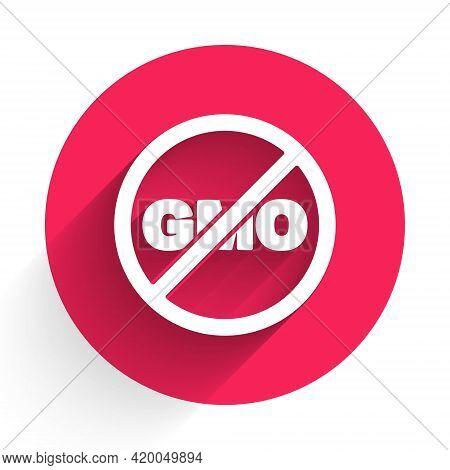 White No Gmo Icon Isolated White Background. Genetically Modified Organism Acronym. Dna Food Modific