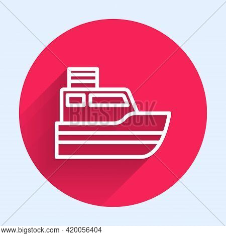 White Line Ship Line Path Of Ship Sea Route With Start Point Gps And Black Line Icon Isolated With L