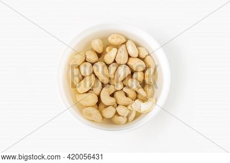 Process Of Soaking Various Nuts: Cashew In Water To Activate. Home Cooking: Making Plant Based Organ