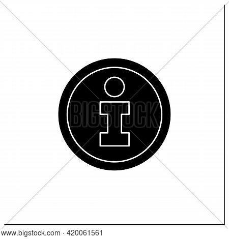 Information Symbol Glyph Icon. Info Center, Bureau. Helpdesk Sign. Public Place Navigation. Universa