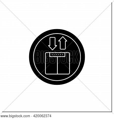 Elevator Symbol Glyph Icon. Upward And Downward Sign. Public Place Navigation. Universal Public Buil