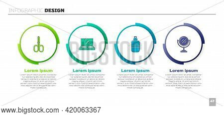 Set Scissors, Makeup Powder With Mirror, Perfume And Round Makeup. Business Infographic Template. Ve