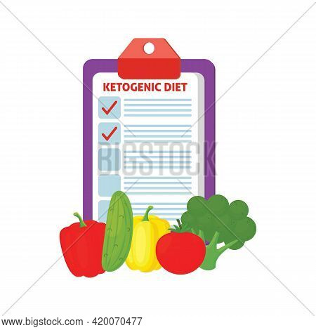 The Ketogenic Diet. Planing With Vegetables. Keto Diet.