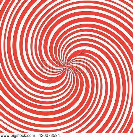 Red Spiral Swirl Vortex On White Background