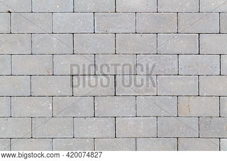 Gray Concrete Sidewalk Pavement Texture And Background